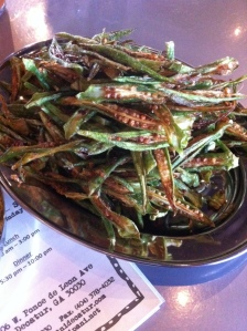 Okra fries were a hit.