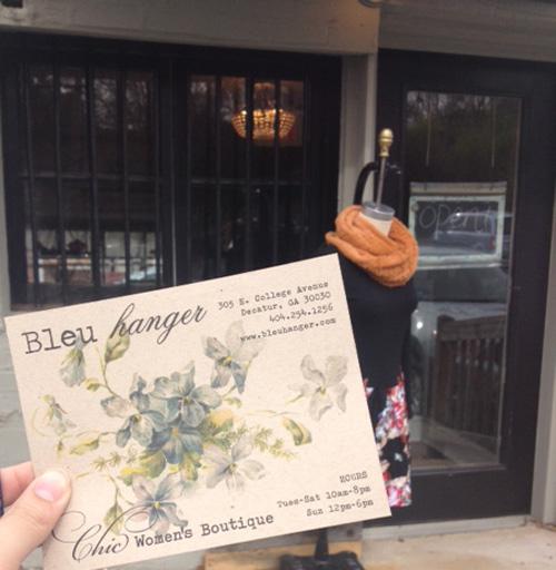 bleu hanger postcard